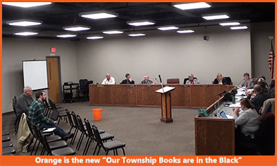 Orange is the new Our Township Books are in the Black 400w